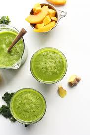 ginger mango ginger kale green smoothie minimalist baker recipes