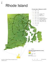 Puerto Rico Island Map by National Geodetic Survey 2014 Gps On Bench Marks Campaign