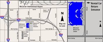 Las Vegas Traffic Map Rental Cars At Mccarran International Airport