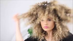 puffy woman curly hair how to make straight hair into fluffy zig zag texture hair youtube