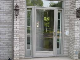 exterior faux brick panels with glass storm doors home depot and