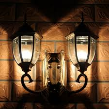 outdoor double wall light led wall lights modern ip65 house l outdoor landscape lighting