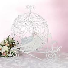 wedding wishes card box fairy tale white wedding wishes card box coach cinderella wishing