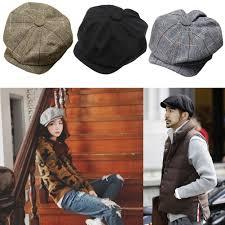 classic newsboy cabbie gatsby hat flat ivy cap golf tweed wool