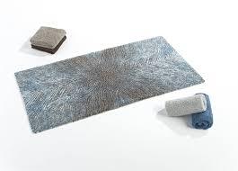 Brown And Blue Bathroom Rugs Abyss Habidecor Bird Modern Pattern Bath Rugs In Blue Grey