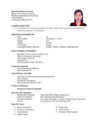 bunch ideas of sample resume for hotel and restaurant management