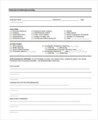 sample employee counseling form 10 free documents in word pdf