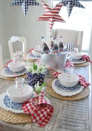 4th of july home decor home by heidi 4th of july red white and blue table