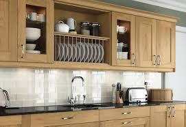 light oak shaker kitchen cabinets contemporary oak shaker kitchen with quartz worktops og