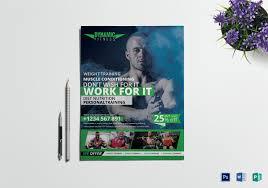 fitness flyer template fitness flyer templates free premium templates
