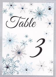 winter wonderland table numbers snowflake winter wonderland table numbers with rhinestones