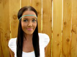 hippie hair bands bohemian hippie chic turquoise blue braided cord thin