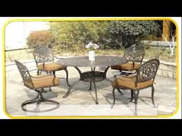 cast aluminum patio furniture furniture youtube