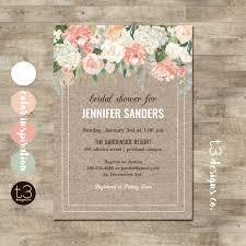 rustic bridal shower rustic bridal shower invitation floral bridal shower