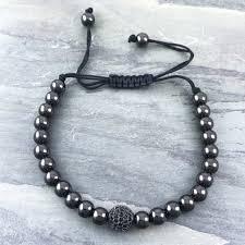 macrame beads bracelet images Black bead macram bracelet nonesuchcreations jpg