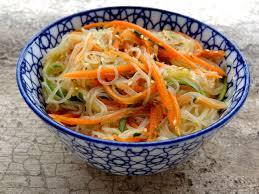 cuisiner vermicelle de riz salade fraîche aux vermicelles de riz la tendresse en cuisine