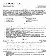 digital marketing resume senior manager digital marketing resume exle baublebar