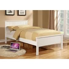Cheapest Single Bed Frame Jessy King Single Size Wooden Bed Frame In White Buy Single Beds