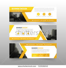 layout banner template yellow abstract triangle corporate business banner stock vector