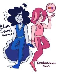 white opal gemsona blue spinel gemsona