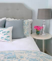 Blue Upholstered Headboard Fancy Upholstered Headboards To Do Yourself