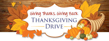 giving thanks giving back thanksgiving drive in