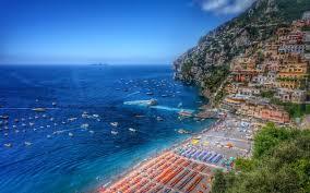 Italy Houses Houses Positano Coastline Italy Houses Sea Coast Boats Beach