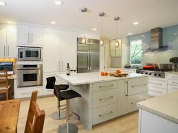contemporary traditional kitchen white varnished wooden kitchen