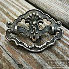 Shabby Chic Drawer Handles by Petite Vintage Drawer Pulls Brass Drawer From Magicalbeanshome On