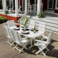 White Patio Dining Set by Polywood Dining Sets Outdoor Poly Wood Patio Furniture Dining Set