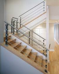 Stainless Steel Banisters Silhouette Railing System With Stainless Steel Guardrail Handrail