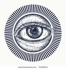 all seeing eye tattoo art vector stock vector 757692511 shutterstock