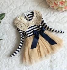 6 9 months infant dress stripe dresses navy blue for sailor