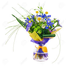 statice flowers flower bouquet from roses green carnation iris and statice