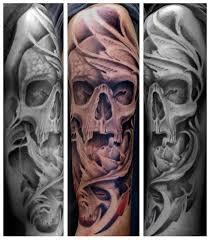 goliath studio tattoos general skull half sleeve