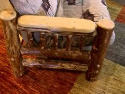 rustic log futon in chair love seat full u0026 queen sizes youtube