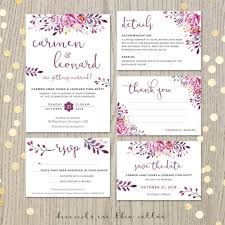 wedding invitation set black wedding invitation set printable stationery weddings