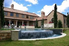 italian style home luxury italian style home and pool stock image image of pool area