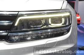 tiguan volkswagen lights 2016 volkswagen tiguan led headlamp drl at iaa 2015 indian autos