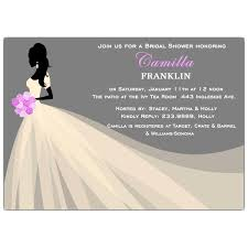 bridal shower invites lovely silhouette bridal shower invitations paperstyle