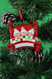 personalized christmas tree decoration ornaments bed heads family
