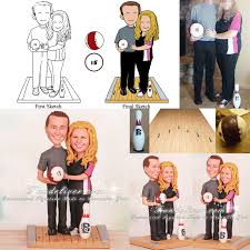bowling cake toppers bowler wedding cake toppers