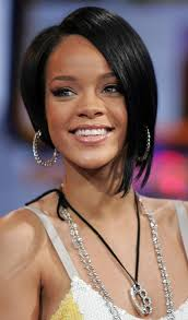 shorter hairstyles with side bangs and an angle trendy rihanna s short hairstyles