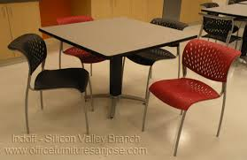Break Room Table And Chairs by Client Installation Gallery Indoff Silicon Valley