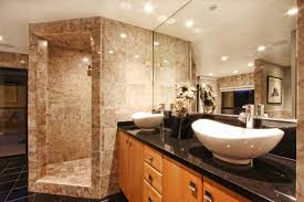 shower ideas for master bathroom modern master bathroom with powder room vessel sink zillow