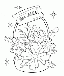 basket flowers for mother u0027s day coloring page for kids coloring