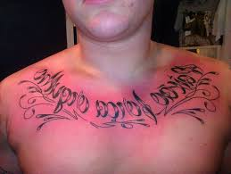 mens chest writing tattoos chest script tattoos designs and