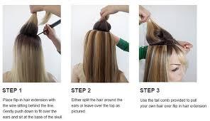 flip in hair how to wear flip in hair extensions