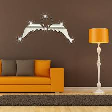 dolphin home decor dolphin couple acrylic mirror wall stickers bedroom living room