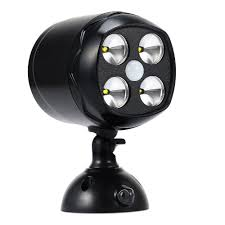 battery operated security lights battery operated security light 4 x 3w led 600 lumens